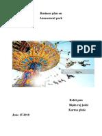 Amusement Park Business Plan