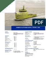 Platform Supply Vessel 1600 DS