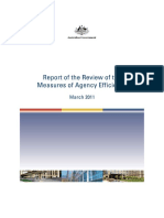 Australie-measures of Agency Efficiency-2011