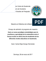 Ensayo Admisión Maestría Carlos Arango