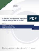 IGOPP YAllaire La Gouvernance Dans Les Organisations Publiques Au Qu Bec D Cembre 2016