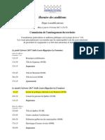 PdL 122 Municipalites-horaire Auditions - Pl 122 2017