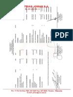 Estados Financieros Trimestrales Industrias Jomar S.a Bajo NIFF a Marzo de 2018