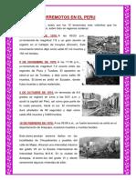 Terremotos en El Peru
