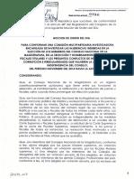 MOCIÓN  DE ORDEN DEL DÍA | Creación de Comisión Investigadora para la CNM