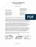 Letter to House Leadership 9-11