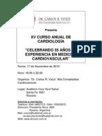XV CURSO ANUAL DE CARDIOLOGÍA