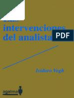 Las intervenciones del analista [Isidoro Vegh].pdf