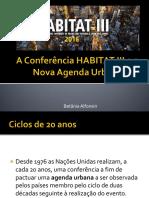 A Conferência HABITAT III e a Nova Agenda Urbana.alfonsin