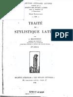 [Jules Marouzeau] Traité de Stylistique Latine