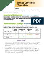 Preventative Plus Service Contract Form