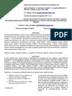 Lab 4 Complejo de Pentaaminclorocobalto III