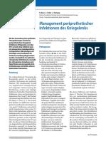 Management Periprothetischer Infektionen Des Kniegelenks