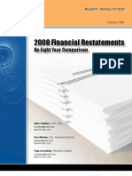 Audit Analytics 2008 Restatement Rpt