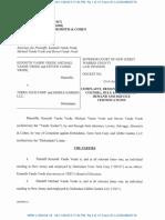 Vande Vrede vs TRTC - NJ WRN-L-104-18 Complaint