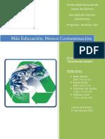 Educacion para la contaminacion