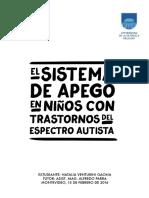 Tfg Natalia Venturini - El Sistema de Apego en Ninos Con Tea