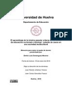 El Aprend de La Mus Popular Urbana en Contextos de Edu No Formal e Informal