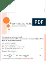 SISTEMAS LINEALES 2018
