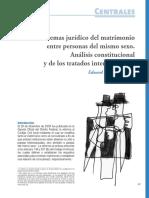 Analisis Juridico Matrim Homosexual e Martin