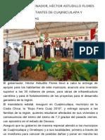 22-02-2018 Entrega El Gobernador, Héctor Astudillo Flores Apoyos Para Habitantes de Cuajinicuilapa y Anuncia Más Obras.