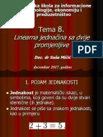 08. Predavanje Linearna Jednačina Sa Dvije Promjenljive (2)