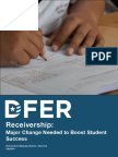 Democrats for Education Reform Report on Receivership and Turnoround