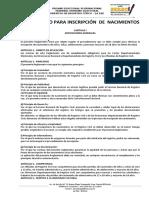 0011 REGLAMENTO PARA INSCRIPCION DE NACIMIENTOS.pdf