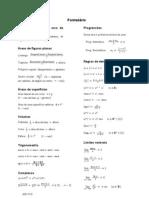 Formulário 12º Matemática