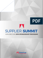 2018 Supplier Summit Brochure