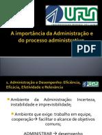 Administração e o Processo Administrativo