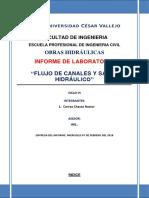 Informe de Laboratorio.obras Hidraulica