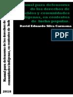 Manual Para Defensorxs de Derechos de Pueblos y Comunidades Indígenas.
