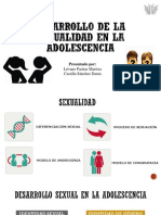 Desarrollo de La Sexualidad en La Adolescencia