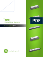 GE Tetra Led Lighting Systems Power Supply Brochure