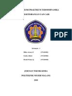 Laporan Full Praktikum Termodinamika - Kesetimbangan Uap Cair-1