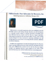 Inside page the International Addiction Therapy Conference 2014