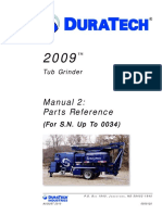 Duratech 2009 Parts Manual SN Up to 0034 August 2010