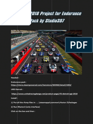 LE MANS 2018 Project for Endurance Pack by Studio397