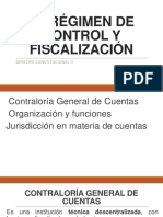 El Régimen de Control y Fiscalización
