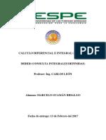 CALCULO INTEGRACIÓN
