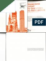 CHOAY, Françoise. As questões do patrimônio (1).pdf