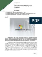 Spesifikasi Hardware Dan Software Pada Windows Server 2008