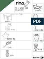 Fabuloso material para trabajar la separación de silabas y rimas.pdf