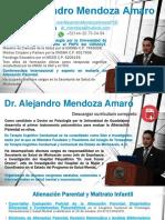 Reseña curricular Alejandro Mendoza-Amaro PhD