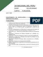 Carta Funcional Pnp