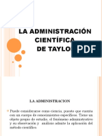 Adminis Traci on Cientific a Taylor