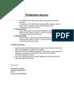 Backup SAP Production Servers