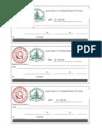 Formato de cheques