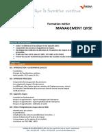 Programme QHSE